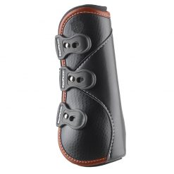 D-TEQ Front Brown Binding Equine Boots