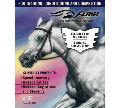Flair Equine Nasal Strips - reduce fatigue and improve respiratory health in horses